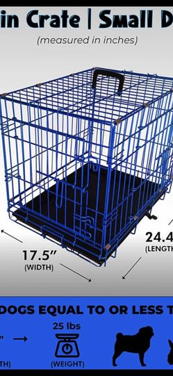 "24"" Blue Double Door Dog Crate for Sale in Tracy,  CA"