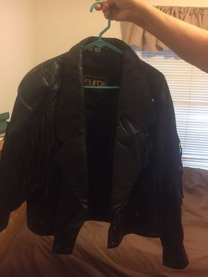 Fringe leather jacket Size large ladies for Sale in Yorba Linda, CA