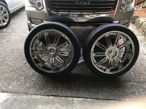 22 Chrome Rims & Tires