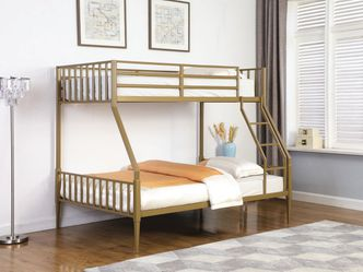 ★✧MATTE GOLD FINISH TWIN OVER FULL SIZE BUNK BED FRAME / LITERA CAMA★✧ for Sale in San Diego,  CA