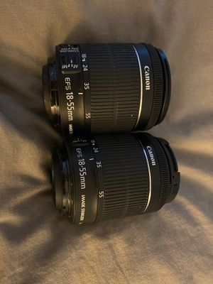 2 Canon EFS 18-55mm lenses for Sale in Miami, FL