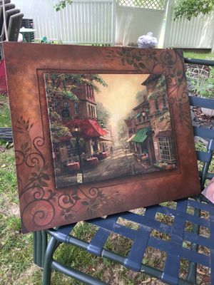 Two beautiful canvas pictures frames. for Sale in Durham, NC