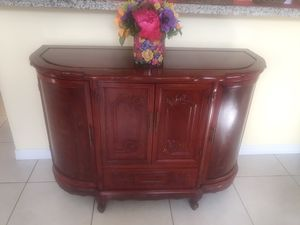 Red antique server buffet for Sale in Miami, FL