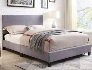 Gray Fabric Platform Bed for Sale in Marietta, GA