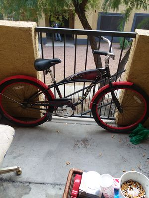Red and black beach cruiser for Sale in Apache Junction, AZ