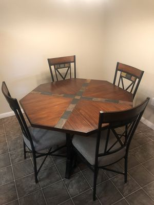 Like new Dining area table with 4 Chairs. Never used. for Sale in Bakersfield, CA