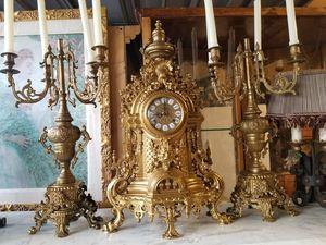 Antique clock bronze w candelabras for Sale in Miami, FL