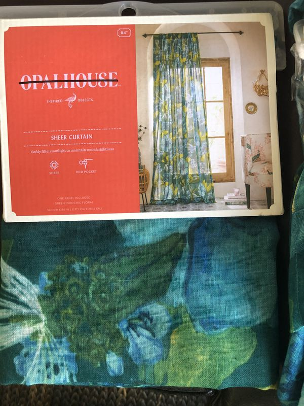 Target opalhouse sheer window curtain panel set
