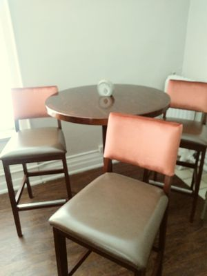 High top table w/ 3 new chairs for Sale in Detroit, MI