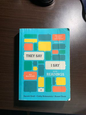 """THEY SAY I SAY"" 3rd edition by Gerald Graff •Cathy Birkenstein • Russel Durst for Sale in Port St. Lucie, FL"
