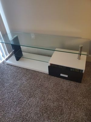 Black and white tv stand for Sale in Phoenix, AZ