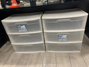 Wide plastic drawers for Sale in Los Angeles, CA