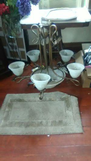 Solid brass five light chandelier HAMPTON BAY for Sale in Ruston, WA