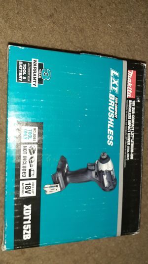 Makita 18V Sub-Compact LXT Brushless Impact Driver for Sale in Baltimore, MD