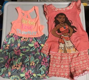 Lot of 2 Toddler Girl Hawaiian Size 3T Aloha Dress and Moana PJs for Sale in Costa Mesa, CA
