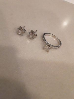 Diamond Ring and Earrings for Sale in Glendale, AZ