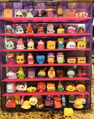 Shopkins Food fair Lot With Case 62 Pieces for Sale in Rancho Cucamonga, CA