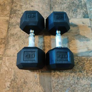 New 80lb Hex Dumbbell Set 40lb Pair for Sale in Tacoma, WA
