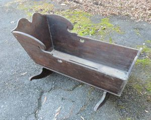 Antique baby cradle bassinet rocker for Sale in North Potomac, MD