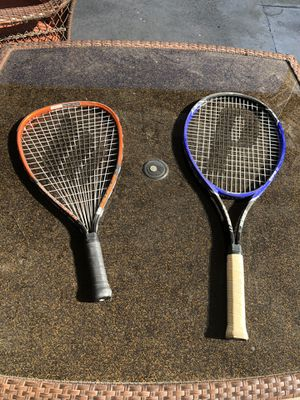 Racket ball tennis Prince 2 Power fan Ektelon Cobra 2 for Sale in Los Angeles, CA