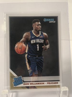 Zion Williamson 2019-20 Donruss Rated Rookie Base #201 RC - Pelicans for Sale in Minneapolis, MN