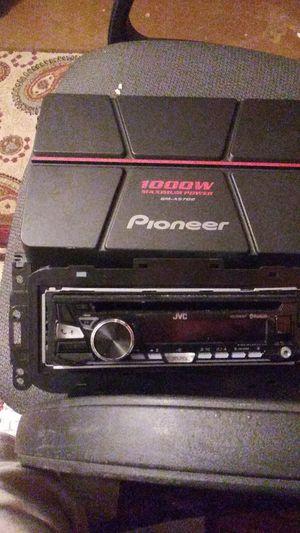 JVC car stereo with PIONEER 1000 watt amp for Sale in Phoenix, AZ