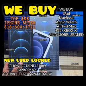 iPhone 12 11 Pro Xs Max iCloud Locked New 12 Pro Max 12 Pro Max 12 Mini Unlocked New iPad WiFi +cellular MacBook 2020 Apple Watch Series 6 Sealed for Sale in Los Angeles, CA