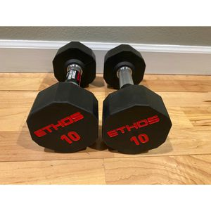 Rubber Hex Dumbbells - 10LB Pair for Sale in Seattle, WA