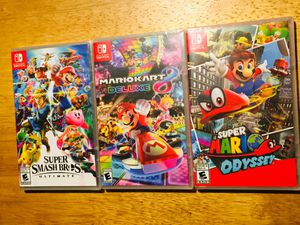 3 New - Nintendo Switch Games - $135 Cash - All 3 for Sale in Los Angeles, CA