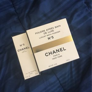 Chanel No 5 Perfume & Luxury Bath Powder for Sale in Chester, PA
