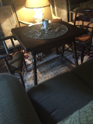 Hitchcock Chairs x 2 and nice vintage table for Sale in Roscommon Township, MI