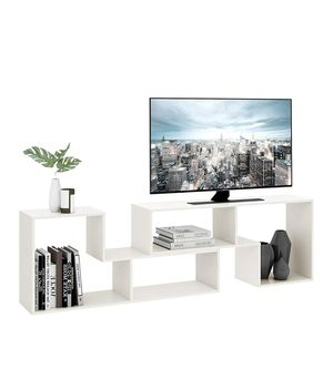 TV Console Stand, Storage Bookcase Shelf for Living Room, White for Sale in Chicago, IL
