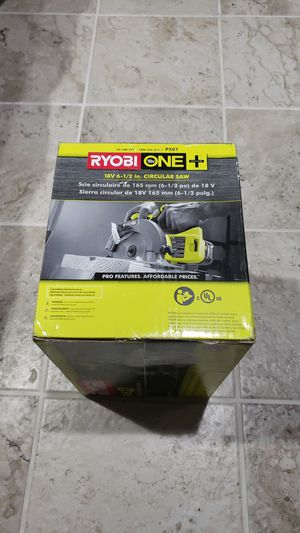RYOBI 18-Volt ONE+ Cordless 6-1/2 in. Circular Saw (Tool Only) for Sale in Chicago, IL