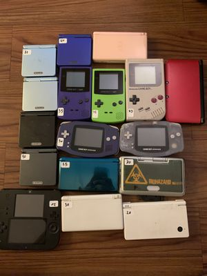 Nintendo handheld console lot. Gameboy ds 3ds for Sale in Tampa, FL