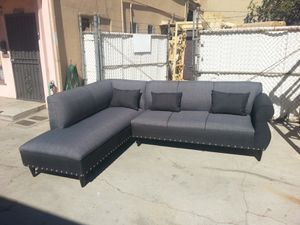 NEW 7X9FT ELITE CHARCOAL FABRIC COMBO SECTIONAL CHAISE for Sale in Paradise, NV