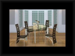 Glass dining table with 4 chairs for Sale in Hyattsville, MD
