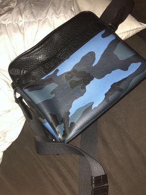 COACH BLUE CAMO MESSENGER BAG for Sale in Atlanta, GA