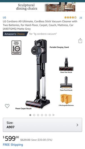 Lg cord zero A9 cordless stick vacuum cleaner ULTIMATE for Sale in Philadelphia, PA