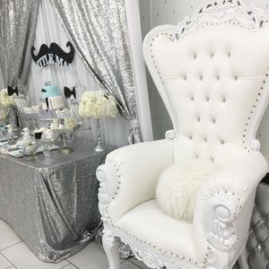 Sparkly Silver Sequin Tablecloth & Drapes for Sale in Queens, NY