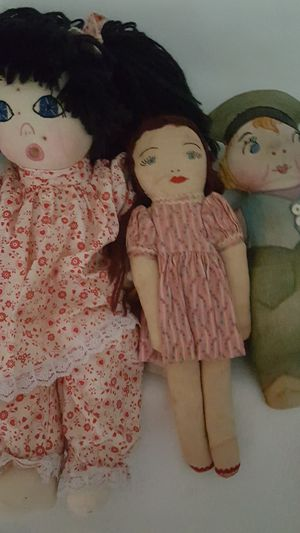 3 antique rag dolls for Sale in Reidsville, NC