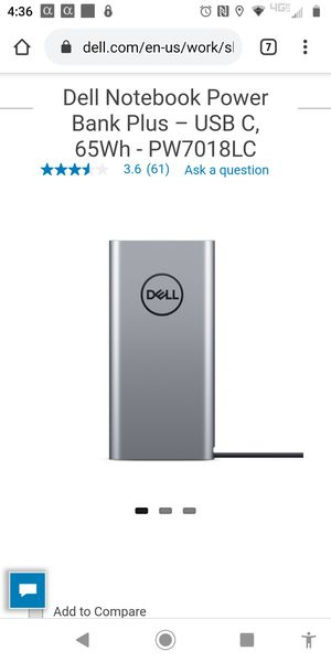 Dell Notebook Power Bank Plus for Sale in Elgin, SC