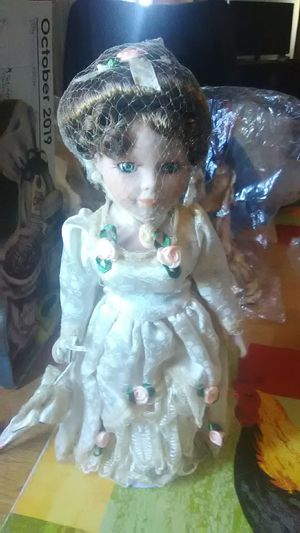 Ceramic doll w/ stand for Sale in Fresno, CA