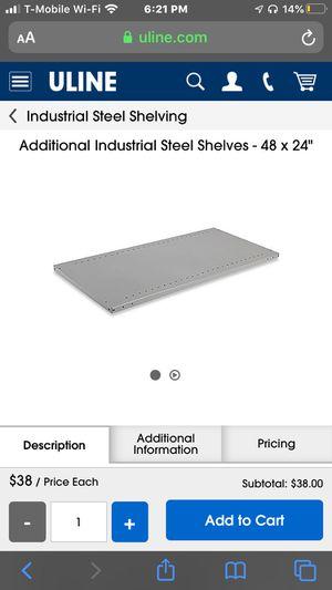 Industrial Steel Shelves for Sale in Washington, DC