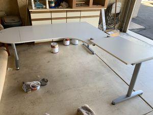 IKEA white, adjustable desk for Sale in Scottsdale, AZ