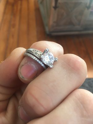 Sterling silver engagement/wedding ring for Sale in Columbus, OH