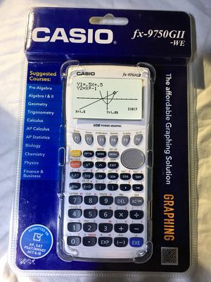 SEALED NEW! Casio fx-9750GII Graphing Calculator, White/Blue for Sale in Washington, DC