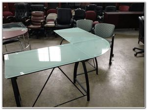 Frosted glass desk for Sale in Wichita Falls, TX