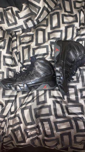 size 12 Air Jordan 9 Retro 'Black & University Red'. for Sale in Columbus, OH