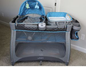 Ingenuity play yard with bassinet and changing table for . Also plays music for Sale in Levittown, PA