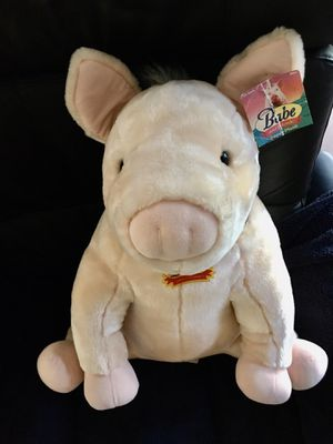 """Large 21"""" H Stuffed animal Babe the Pig great condition for Sale in Hollywood, FL"""